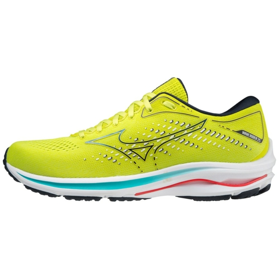 Mizuno WAVE RIDER 25 / Sunny Lime/Sky Captain/Ignition Red