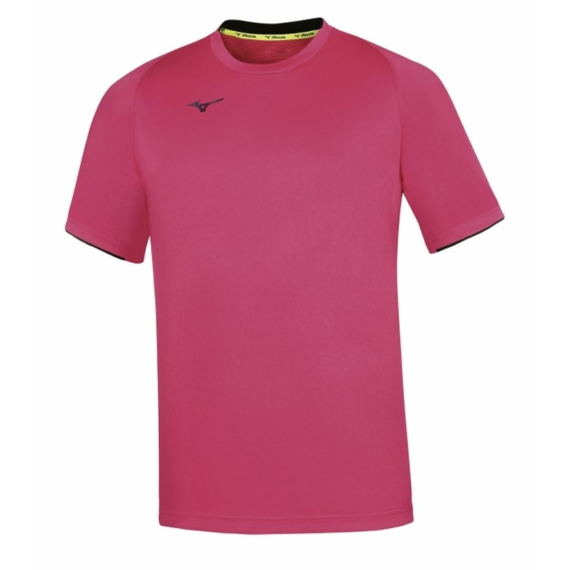 MIZUNO Core Short Sleeve Tee/Pink Fluo/Navy/Férfi